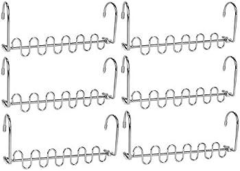 6-Pieces Crozzy Space Saving Wardrobes Metal Hangers