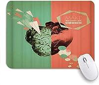 マウスパッド 個性的 おしゃれ 柔軟 かわいい ゴム製裏面 ゲーミングマウスパッド PC ノートパソコン オフィス用 デスクマット 滑り止め 耐久性が良い おもしろいパターン (北欧の手描きの花ミニマルな北欧スタイルのかわいい葉)