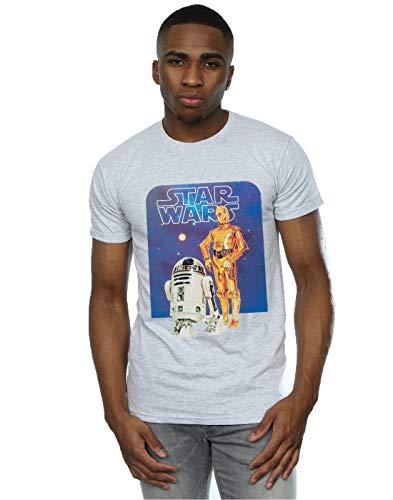 Star Wars Herren R2-D2 and C-3PO T-Shirt XX-Large Heather Grey