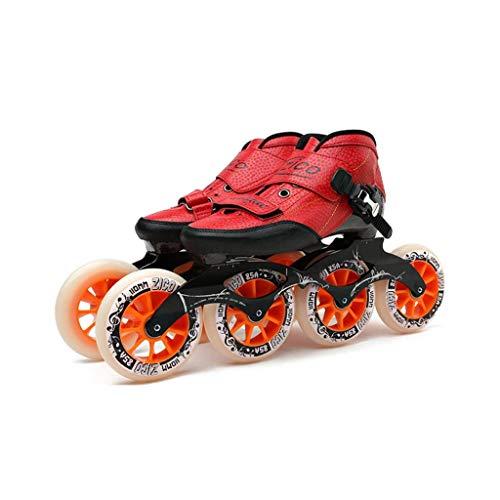 LBX Professionelle Inline-Skates Frauen 4 * 90-110MM Räder Kohlefaser-Profi-Rollerblades Für Herren Rote Inline-Speedskates