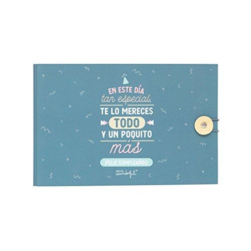 Mr Wonderful So besonderen Tag, Te Lo Mereces Alles und EIN wenig mehr Fotoalbum, Papier, Mehrfarbig, 23x 15x 3,5cm