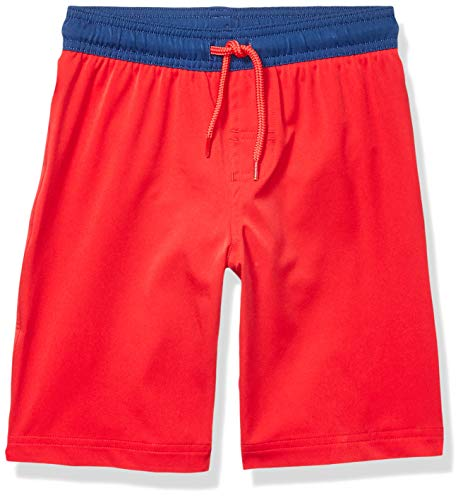 Amazon Essentials Jungen Badehose, Red, US S (EU 116 CM)