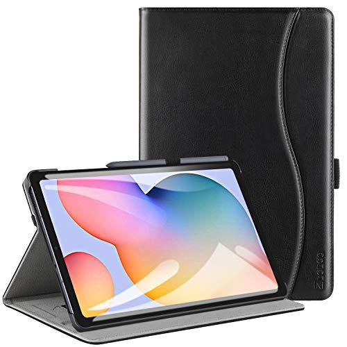 ZtotopHülle Hülle für Samsung Galaxy Tab S6 Lite 10.4 2020, Premium Leder Business Folio Bezug mit Ständer, Tasche & Automatischer Wake/Sleep für Samsung S6 Lite 10,4 Zoll 2020 Tablet -Schwarz