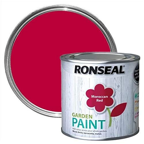 Ronseal RSLGPMR750 Garden Paint, Moroccan Red, 750 ml