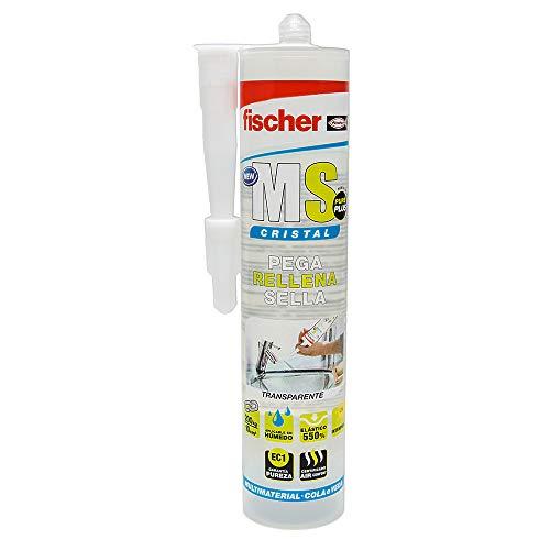 fischer - sellador de Juntas MS Sellante ADH Cristal (Cartucho 290 ml)...