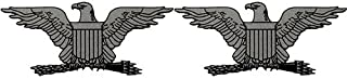 Officer's Rank O-6 Full Bird Captain Colonel All Services Clear Decal 2 pc.