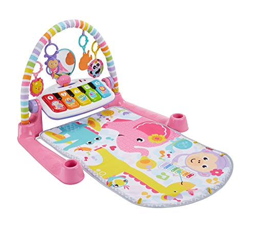 Fisher-Price Deluxe Kick & Play Piano Gym, play mat and activity toys with lights, music, and learning content for infants