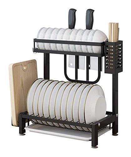WEM el fregadero Rejilla extensible para secar platos, escurridor de platos, rejilla para platos Escurridor de platos Rejilla Soporte para platos Cesta en el fregadero o en el mostrador Acero inoxida