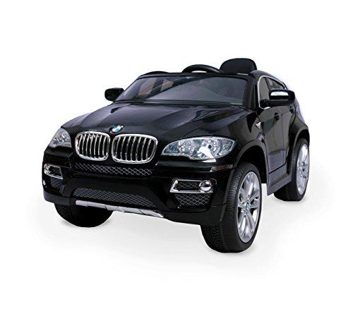MEDIA WAVE store Macchina elettrica Nera LT847 per Bambini BMW X6 monoposto 12V con Telecomando