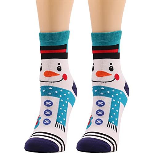 YWLINK Calcetines De Navidad Mujer Calcetines De Invierno AlgodóN Calcetines De Felpa CáLidos Calcetines Navidad Regalo Calcetines para Adultos Lindo Calcetines Calientes De Punto (B2, Talla única)