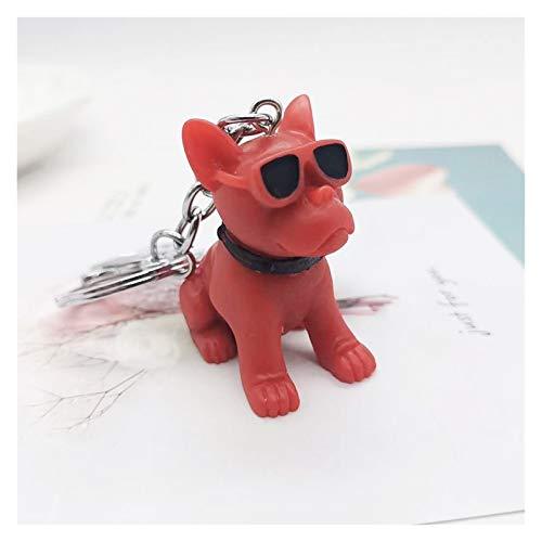 Djujiabh Llavero Moda de Dibujos Animados Bulldog Perro llaveros Linda muñeca Llavero...