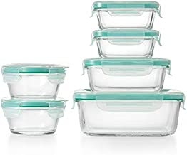 OXO 11230200 Good Grips Smart Seal Container 12 Piece Glass Container Set,Blue