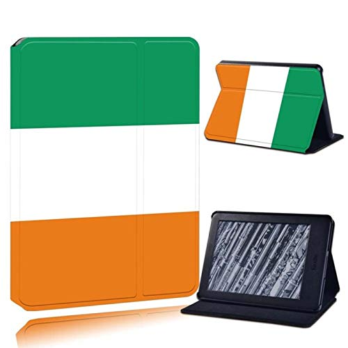 fsafa Case For Kindle,para Kindle 8Th 10Th Paperwhite 1/2/3/4 Printed Leather Reader Stand Folio Cover-Ultra-Thin Flag Design of Mexico/UK/France/Germany/Italy Tablet Stand Case,25.Irish Flag,Kin