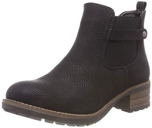Rieker Damen 96864 Chelsea Boots, Schwarz (Schwarz 00), 41 EU