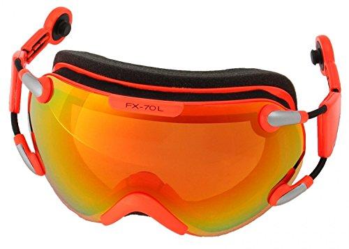Casco FX70 Carbonic Lunettes de ski Noir orange, de Taille de L