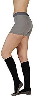 Juzo 2001RIADFF10 II Soft Ribbed Silver Sole Men's Knee Highs 20-30 mmHg - Black