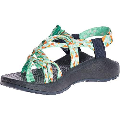 Chaco Women's Zcloud X2 Sport Sandal, Green/Orange, 7 M US