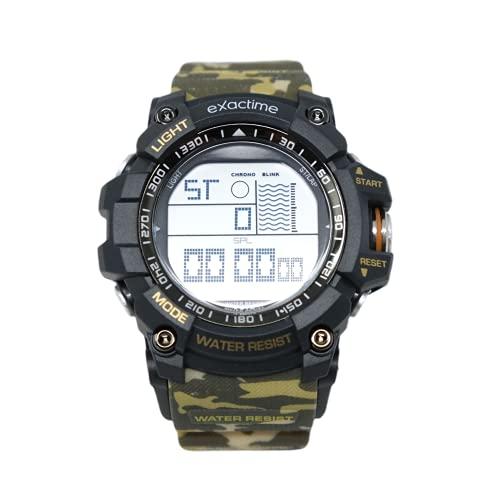 Reloj Deportivo Militar Analógico y Digital Doble Horario Resistente al Agua Cronómetro Cuenta Atrás Alarma y Luces LED para Hombres, Mujeres (Camuflaje)