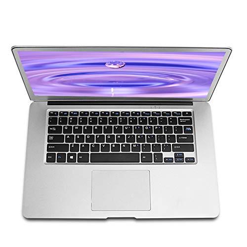 14 Zoll Laptop Notebook Computer PC, Windows 10 Pro Betriebssystem, Intel J3455 Quad Core CPU, 6 GB RAM, 128 GB SSD, Full HD 1920 x 1080, Schlankes Geschäft und Unterhaltung Notebook, Silber, D1
