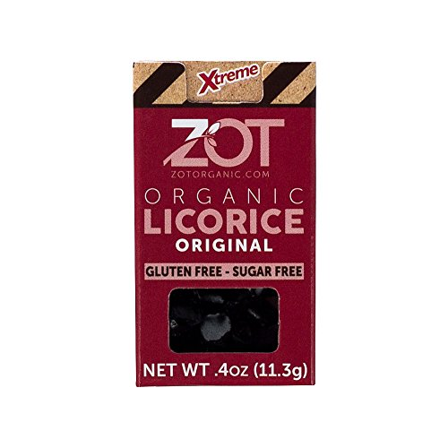 ZOT 100% Organic Licorice, Original, 0.4-Ounce Flip Top Boxes (Pack of 6)