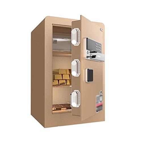 Cajas de Seguridad para gabinetes Caja de Seguridad para joyería Dinero en Efectivo Objetos de Valor Documentos de la cámara Estructura de Acero sólido Caja de Seguridad (Color: Dorado, Tamaño: 6036
