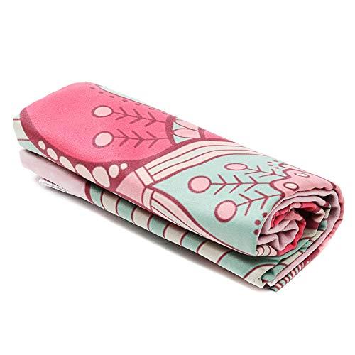 Goodvk Colchoneta de Yoga Microfibra Impresión Fitness Yoga Mat Deporte Aparinas de Yoga for alfombras Antideslizantes Fácil de Usar (Color : D, Size : 183x61cm)