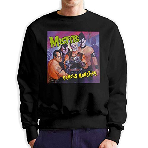 Herren Langarm Sweatshirts Misfits Famous Monsters Music Band Herren Fashion Crew Neck Sweatshirt Langarm