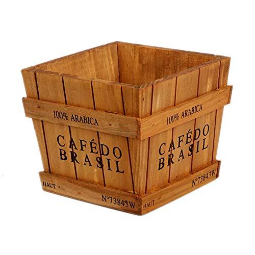 westeng Pflanzen Blumentopf Box Container Allgemeine Cosmetics Schmutz die Lagerung Fall Decor Übertopf Schreibtisch Aufbewahrung Halter Holz