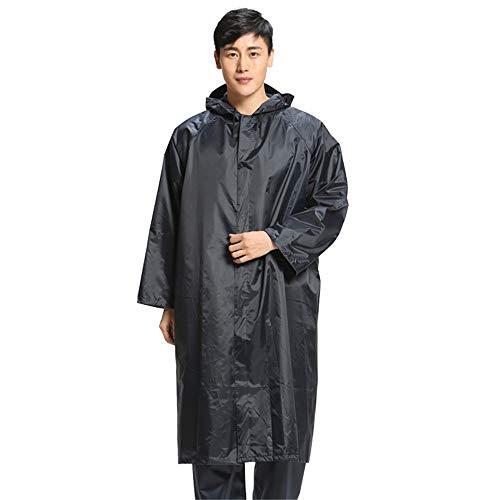ChenYongPing Warnschutzjacke Langer wasserdichter Regenmantel für Herren Regenanzugjacke und -Hose