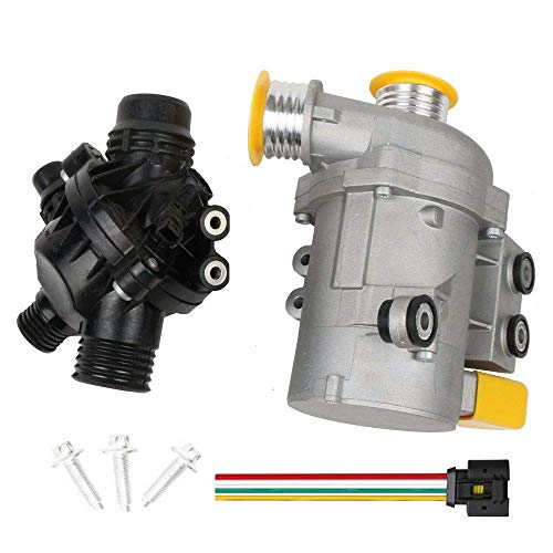 MOSTPLUS 11517563183 11517586925 Electric Engine Water Pump and Thermostat Compatible for BMW E90 X3 Z4 1 3 5 Series