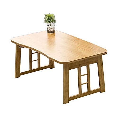 SH-tables Mesa plegable para ordenador, estilo japonés, mesa baja de bambú, mesa de comedor, escritorio, para dormitorio Tatami, ventana de bahía, sala de té (tamaño : 60 x 40 x 31 cm)