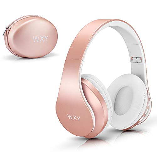 Over Ear Bluetooth Headphones, WXY Girls Wireless Headset V5.0 with Built-in Mic, Micro TF, FM Radio, Soft Earmuffs  Illinois