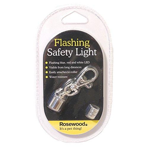 (ローズウッド) Rosewood ワンちゃん用 フラッシング 安全ライト 犬用ライト お散歩用ライト ペット用ライト (ワンサイズ) (シルバー)