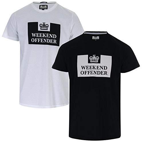 Weekend Offender Tadmur - Camisetas para hombre, 2 unidades, color blanco