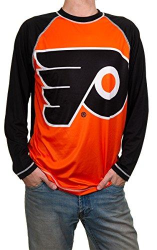 NHL Mens Performance Long-Sleeve Rash Guard (Philadelphia Flyers, Medium)