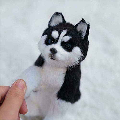 ZGHYBD Lifelike Siberian Husky Simulation Toy Dog,Cute Animal Plush Dolls for Kids...