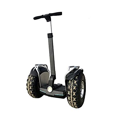 OUTSTORM 4000w/ 84v Powerful Off Road Electric Self Balance Golf Cart Vehicle / 34 Miles Range/13MPH Speed/ 8.8Ah Battery/19in Wheels (2400w/ 72v /7.8Ah / 28 Miles Range/Gray)