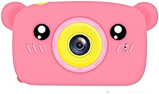 ACHICOO X9S Kids Mini Camera Toys 2.0inch 1920 HD Screen Multi-Function Cartoon Bear Children Educational Toy Birthday Gift Pink
