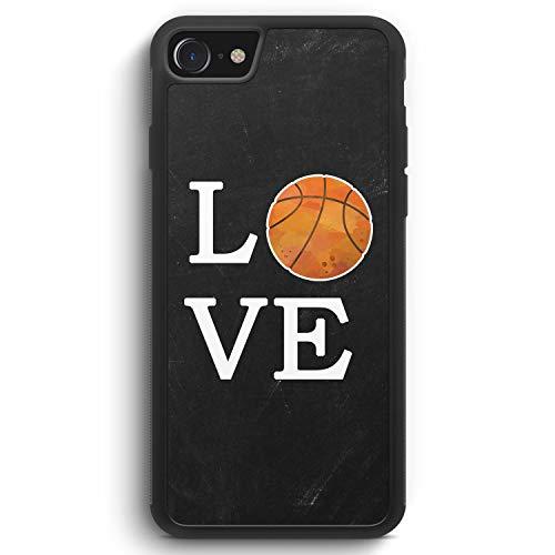 Love Basketball - Silikon Hülle für iPhone 6 / 6s - Motiv Design Sport - Cover Handyhülle Schutzhülle Case Schale