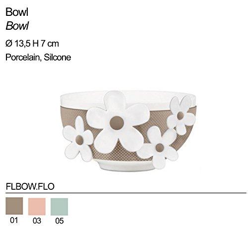 Bol en porcelaine BACI MILANO avec accessoire en silicone FLBOW.FLO diverses couleurs
