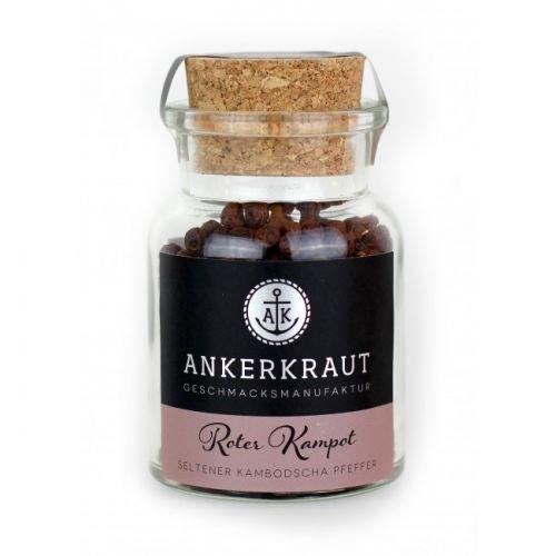 Ankerkraut Roter Kampot Pfeffer, 70gr Korkenglas