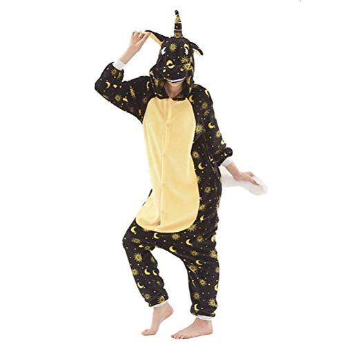 Unisex pyjama volwassen dier onesies herfst en winter flanel carton dier eendelige pyjama paard eenhoorn prestaties kleding, JUSTTIME XL Zoals getoond