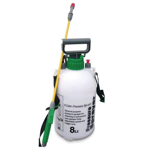 Garden Pressure Sprayer KNAPSACK WEEDKILLER Chemical Fence Water Spray Bottle (8L Pressure Sprayer)