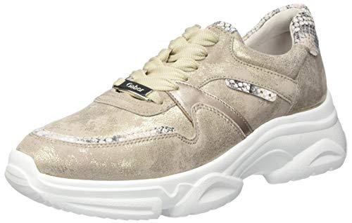 Gabor Women's Jollys Low-Top Sneakers, Beige Muschel Leinen 32, 10.5