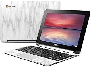 Bianco Marble Protector Skin Sticker Compatible with Asus Flip Chromebook - Ultra Thin Protective Vinyl Decal Wrap Cover