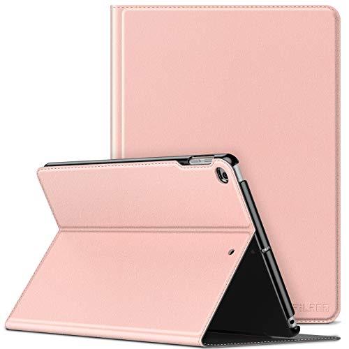 INFILAND Funda Case para iPad 9.7 2018/2017 & iPad Air 2/Air, Super Delgada Soporte Frontal Cover con Auto Reposo/Activación para iPad 9,7 (6/5 Generation) & iPad Air 2/Air, Rosa Dorado