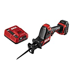 RECIPROCATING SAW KIT—Tackle projects with this cordless saw kit that includes a PWR Core 12 2. 0Ah Lithium Battery and PWR Jump Charger. Compact SIZE—The digital Brushless motor provides compact, lightweight power to tackle any project. Longer run t...