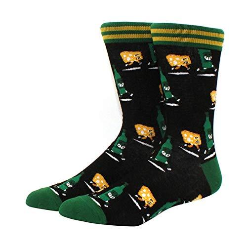 Calcetines para Hombres patrón Hip Hop Hombres Invierno Engrosamiento Largo monopatín Divertidos Calcetines Coloridos 2 Pares-a20