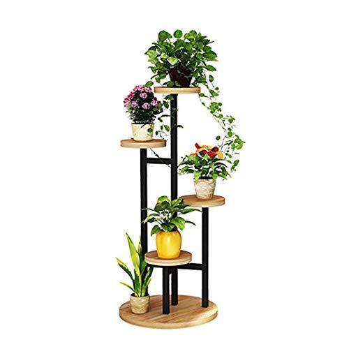 EstantesSoporte flores hierro forjado jardín 5 niveles