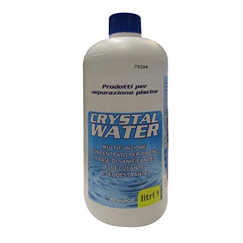 New Plast 0772 - Crystal Water Multifunzione Concentrato per Acqua Piscina, Flacone 1 lt